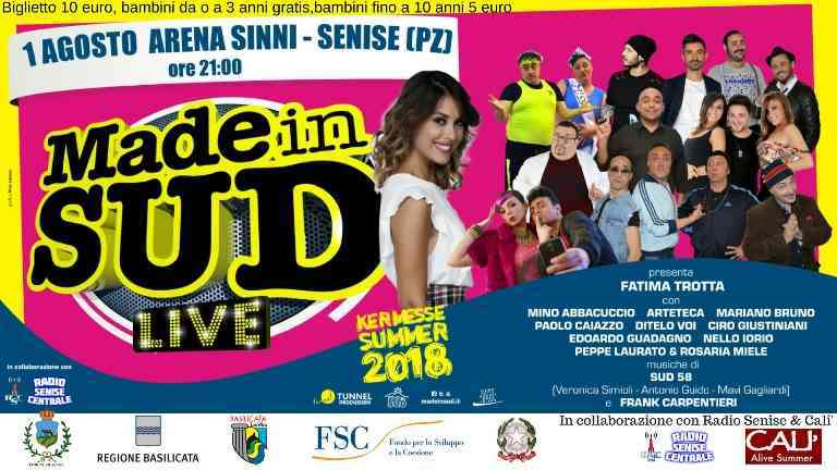 Senise, grande attesa per Made in Sud stasera all'Arena Sinni