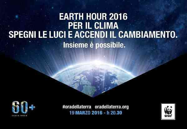 "La città di Policoro aderisce all'appuntamento WWF  ""Earth Hour 2016"""